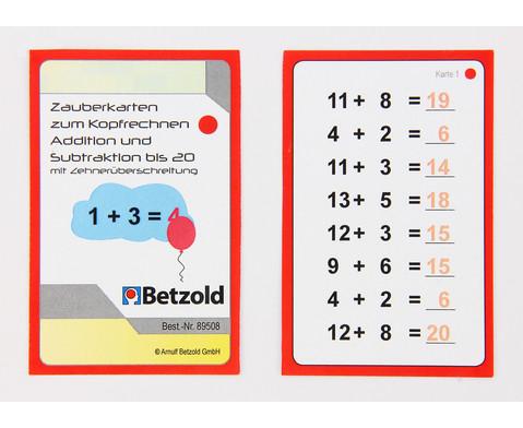 Zauberkarten zum Kopfrechnen - Addition und Subtraktion bis 20 mit Zehnerueberschreitung-5