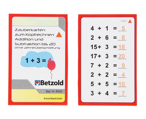Zauberkarten zum Kopfrechnen - Addition und Subtraktion bis 20 ohne Zehnerueberschreitung-2