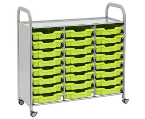 Regal Callero 3-reihig 24 kleine Boxen HxBxT 103 x 101 x 43 cm