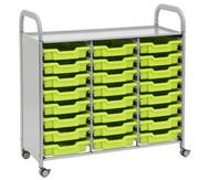 Regal Callero, 3-reihig, 24 kleine Boxen HxBxT: 103 x 101 x 43 cm