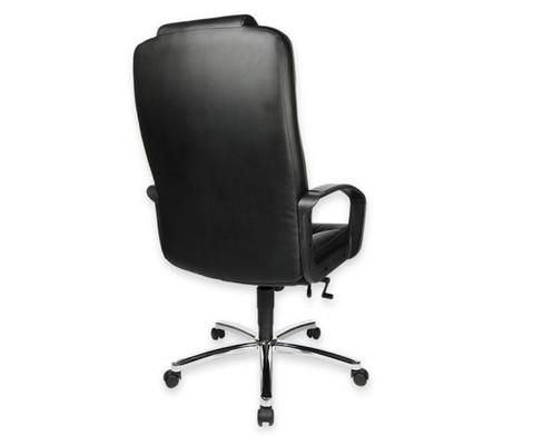 Komfort Chefsessel mit Leder-Sitzflaeche und Stahlfusskreuz-5