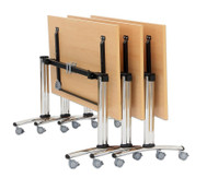 Säulentisch - fahrbar und klappbar, BxTxH: 120 x 80 x 73,5 cm