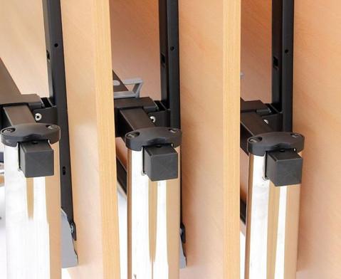 Saeulentisch - fahrbar und klappbar BxTxH 160 x 70 x 735 cm-4