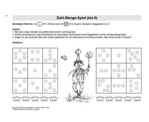 Rechnen mit Wuerfeln Klasse 1-2