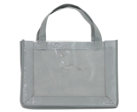 Tasche A4 Querformat grau-1