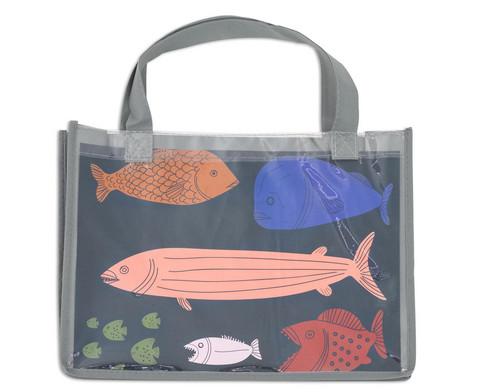 Tasche A4 Querformat grau-2