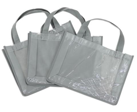 Tasche A4 Querformat grau-7