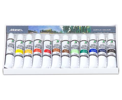 Acrylfarben-Set 12 Tuben mit je 12 ml