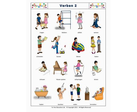 Bildkarten Verben 2-7