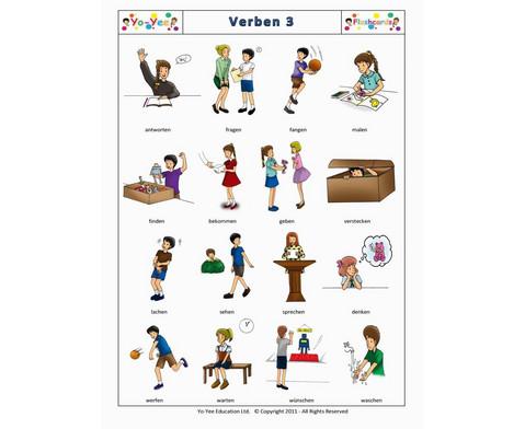 Bildkarten Verben 3-7
