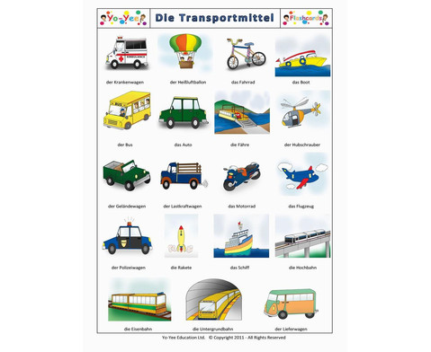 Bildkarten Transportmittel-7