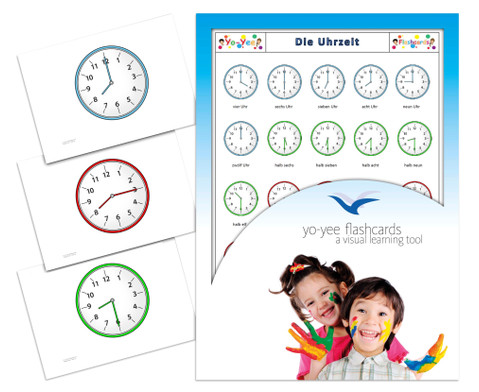 Bildkarten Uhrzeit-1