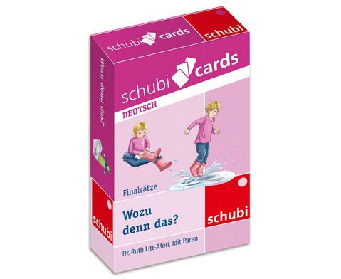 Schubicards Wozu denn das Finalsaetze-1