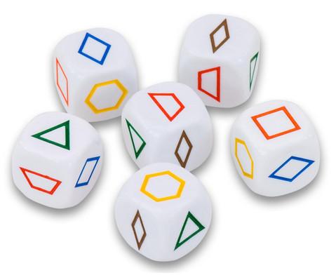 Wuerfel Pattern Blocks 6er Set-1