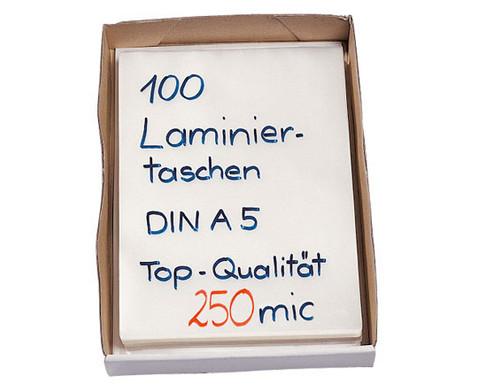 Karton mit 100 Laminiertaschen DIN A5 250 mic-2