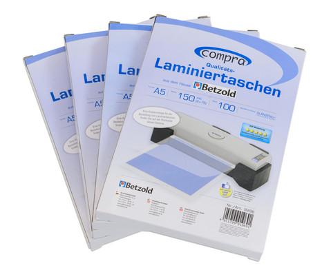 Karton mit 100 Compra Laminierfolien DIN A5 150 mic-5