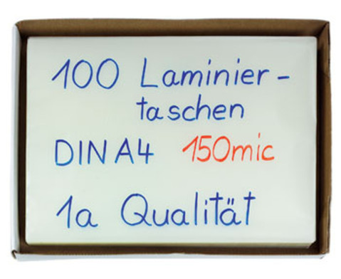 Compra Laminierfolien100 Stueck  DIN A4 150 mic-2