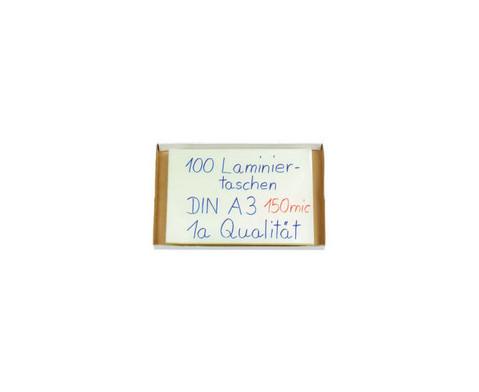 Karton mit 100 Compra Laminierfolien DIN A3 150 mic-2