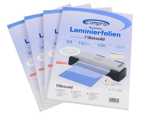 Karton mit 100 Compra Laminierfolien DIN A3 150 mic-5