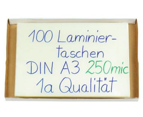 Karton mit 100 Compra Laminiertaschen DIN A3 250 mic-2