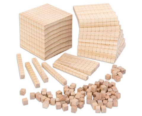 Zehnersystemsatz aus Holz-1