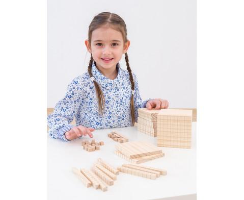 Zehnersystemsatz aus Holz-2