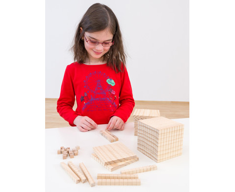 Zehnersystemsatz aus Holz-3