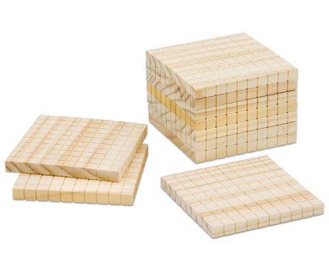 Zehnersystem -Teile aus Holz-3