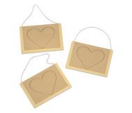 Set mit 3 Herzbilderrahmen