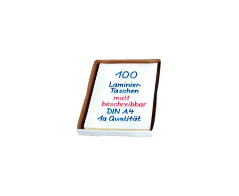 Karton mit 100 Compra Laminiertaschen matt DIN A4 150 mic-2