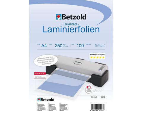 Karton mit 100 Compra Laminiertaschen matt DIN A4 250 mic-1
