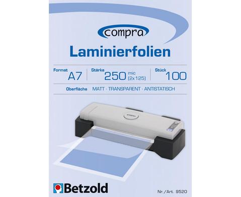 Betzold Betzold Laminierfolien DIN A7 100 Stueck