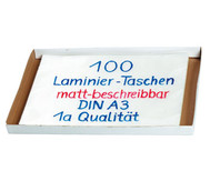 Karton mit 100 Compra Laminierfolien matt, DIN A3, 250 mic
