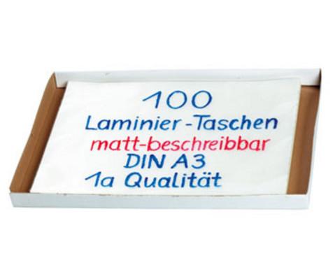 Karton mit 100 Compra Laminiertaschen matt DIN A3 250 mic-2