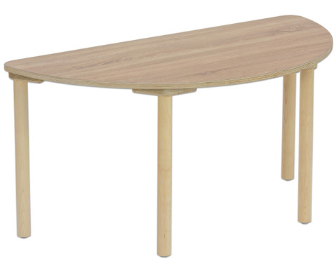 Tisch halbrund Hoehe 58 cm