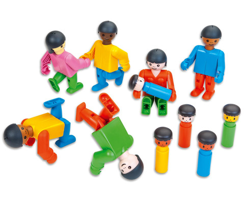 Poly-M Spielfiguren - Freunde aus aller Welt 47-tlg-1