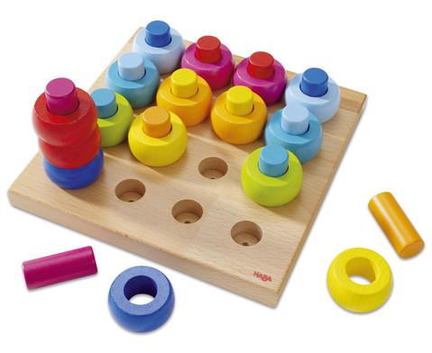 Steckspiel Farbkringel 33-tlg