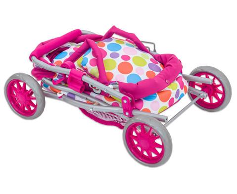 Puppenwagen mit Tragetasche und Bettzeug-2