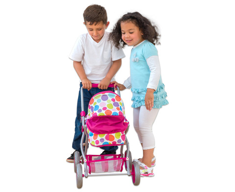 Puppenwagen mit Tragetasche und Bettzeug-4