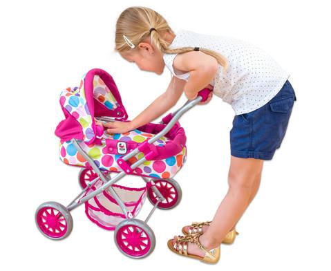 Puppenwagen mit Tragetasche und Bettzeug-5