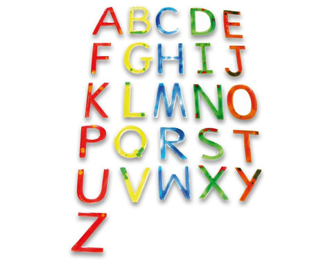 Fluessigkeitsbuchstaben 26-tlg