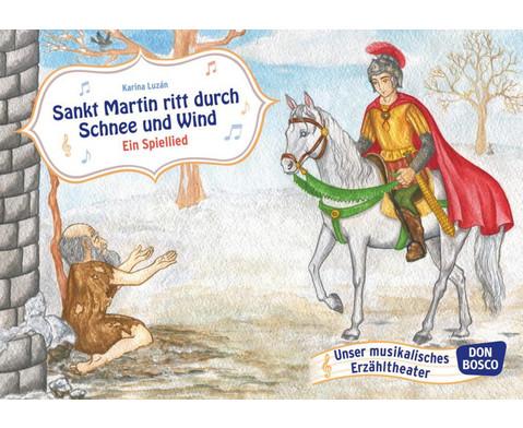 Bildkarten Sankt Martin ritt durch Schnee und Wind-1