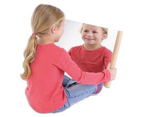 Wiegel-Spiegel mit Holzgriff-1