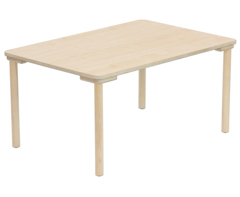 Rechteck-Tisch 80 cm breit Hoehe 52 cm