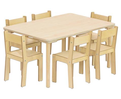 Rechteck-Tisch 80 cm breit Hoehe 52 cm-2
