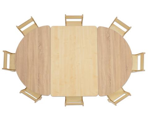 Rechteck-Tisch 80 cm breit Hoehe 52 cm-3