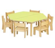 Baccus 8 tlg. Möbelset, Trapeztisch Tischhöhe 40 cm, Sitzhöhe 22 cm