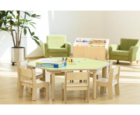 Trapez Tisch Hoehe 25 cm-2