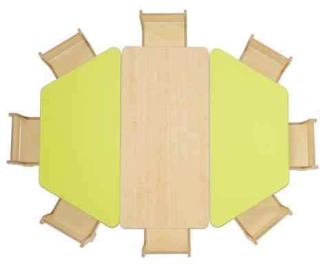Trapez Tisch Hoehe 52 cm-3