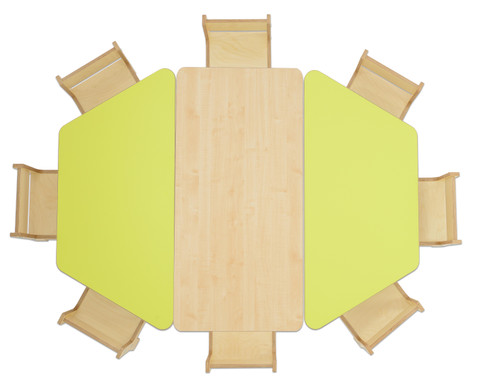 Trapez Tisch Hoehe 58 cm-3